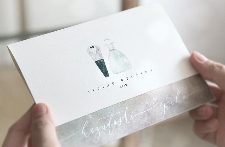 手作りの、温もりある結婚式招待状hina